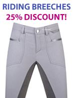 Ladies Riding breeches 25% Discount!