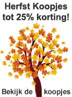 Herfst Koopjes tot 25% korting