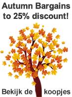 Autumn Bargains to 25% discount