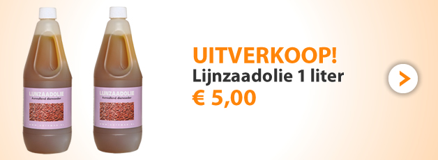 Lijnzaadolie nu € 5,00!