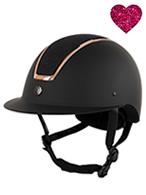 BR Riding Helmet Omega Black/Rosegold