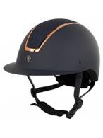 BR Riding Helmet Omega Navy/Rosegold