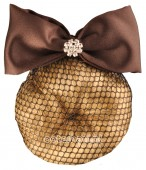 ShowQuest Hair Knot Net Crystal + Bow
