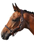 Smile Headcollar Set Navy/Orange