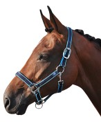 Smile Headcollar Set Navy/Blue