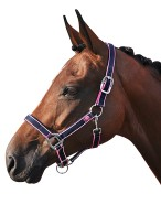Smile Headcollar Set Navy/Pink