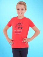 BR 4-Ever Horses Shirt Lovebird Coral Red