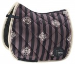 Eskadron Saddle Pad Stripe Glossy Dark Navy/Violet/Grey