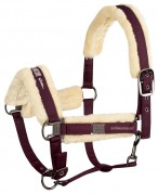 Eskadron Headcollar Set Glossy + Faux Fur Blackberry