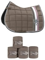Eskadron Saddle Pad + Bandages Dark Taupe