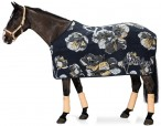 Eskadron Cooler Rug Dralon Flower Deepblue