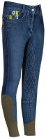 Harry's Horse Riding Breeches Loulou Hamilton Full Grip Blue Nights