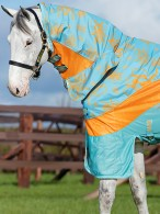 Amigo Rain/Fly Rug 3-In-1 Evolution Aqua/Orange