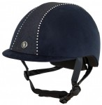 BR Riding Helmet Delta Crystal Navy