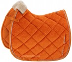 Eskadron Saddle Pad Velvet Stamp Vermillion Orange