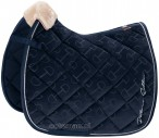 Eskadron Saddle Pad Velvet Stamp Navy