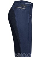 Pikeur Riding Breeches Darjeen Jeans Full Grip Mid Blue