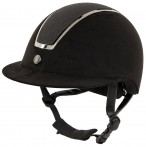 BR Riding Helmet Omega Glitter Black/Gunmetal
