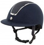 BR Riding Helmet Omega Glitter Navy/Chrome