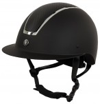 BR Riding Helmet Omega Painted Black/Chrome