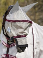 Rambo Fly Mask Vamoose Plus Oatmeal/Burgundy