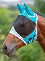 Shires Flymask Ears Teal