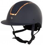 BR Riding Helmet Omega Painted Glitter Navy/Rose