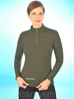 Kingsland Dressage Shirt Siena Green Black Ink