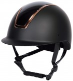 Harry's Horse Riding Helmet Regal Glossy Black/Rosegold