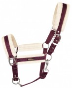 Vantaggio Headcollar Set Faux Fur Burgundy